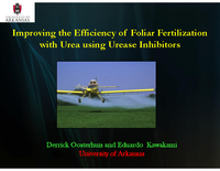 Improving the Efficiency of Foliar Fertilization with Urea using Urease Inhibitors
