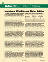 Importance Of Soil Organic Matter Buildup