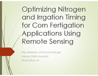 Optimizing Nitrogen and Irrigation Timing for Corn Fertigation Applications Using Remote Sensing