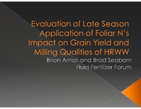 Evaluation of Late Season Application of Foliar N's Impact on Grain