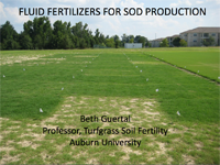 Fluid Fertilizers For Sod Production