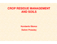 Crop Residue Management and Soils