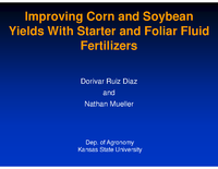 Improving Corn and Soybean Yields With Starter and Foliar Fluid Fertilizers