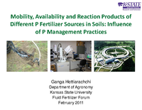 Mobility, Availability and Reaction Products of Different P Fertilizer Sources in Soils: Influence of P Management Practices