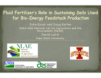 Fluid Fertilizer's Role in Sustaining Soils Used for Bio-Energy Feedstock Production