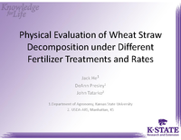 Physical Evaluation of Wheat Straw Decomposition under Different Fertilizer Treatments and Rates