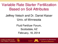 Variable Rate Starter Fertilization Based on Soil Attributes