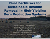 Fluid Fertilizers for Sustainable Residue Removal in High-Yield Corn Production Systems