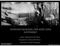 Achieving 300 Bushel-Per-Acre Corn Sustainably