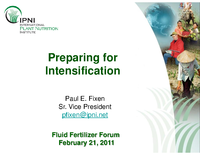 Preparing for Intensification