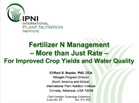 Fertilizer N Management Is More Than Just Rate