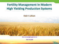 Thoughts on Fertility Management In Modern High Yielding Systems