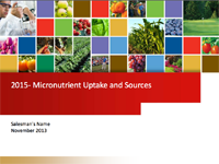 Micronutrient Uptake and Sources