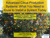 Advanced Citrus Production Systems: What You Need to Know to Install a System Today