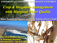 Crop and Irrigation Management with Marginal Water Quality