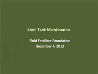 Storage Tank Maintenance Issues