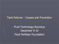 Tank Failures – Causes and Prevention