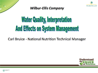 Water Quality, Interpretation, and Effects on System Management