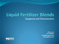 Bench Testing Fluid Mixes