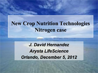 New Crop Nutrition Technologies