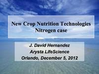 New Crop Nutrition Technologies