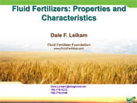 Fluid Fertilizers: Properties and Characteristics