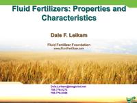 Fluid Fertilizers: Properties and Characteristics