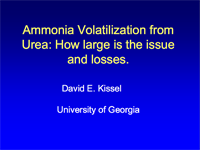 Urea Volatilization