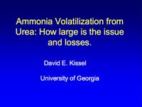Urea Volatilization