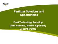 Fluid Fertilizer Solutions and Opportunities