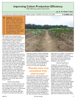 Improving Cotton Production Efficiency