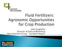 Fluid Fertilizer Agronomic Opportunities For Crop Production