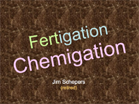 Fertigation Equipment and Agronomics