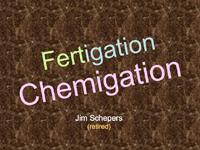 Fertigation Equipment and Agronomics