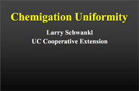 Chemigation Uniformity