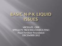 Basic N-P-K Liquid Blending Issues