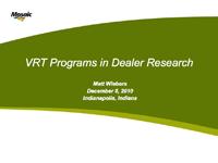 Use Of VRT Programs In Dealer Research
