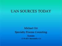 UAN Sources Today
