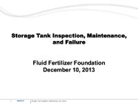Storage Tank Inspection, Maintenance and Failure