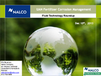 UAN Fertilizer Corrosion Management
