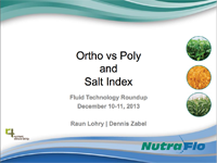 Ortho vs. Poly and Salt Index