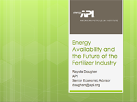 Energy Availability and the Future of the Fertilizer Industry