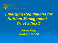 Emerging Regulations For Nutrient Mgt.