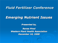 Emerging Nutrient Issues
