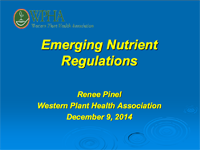 Emerging Nutrient Regulations