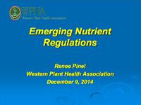 Emerging Nutrient Regulations