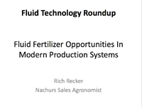 Fluid Fertilizer Opportunities In Modern Production Systems