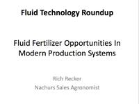 Fluid Fertilizer Opportunities In Modern Production Systems