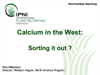 Calcium in the West: Sorting it out?