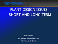 Plant Design Issues: Short and Long Term